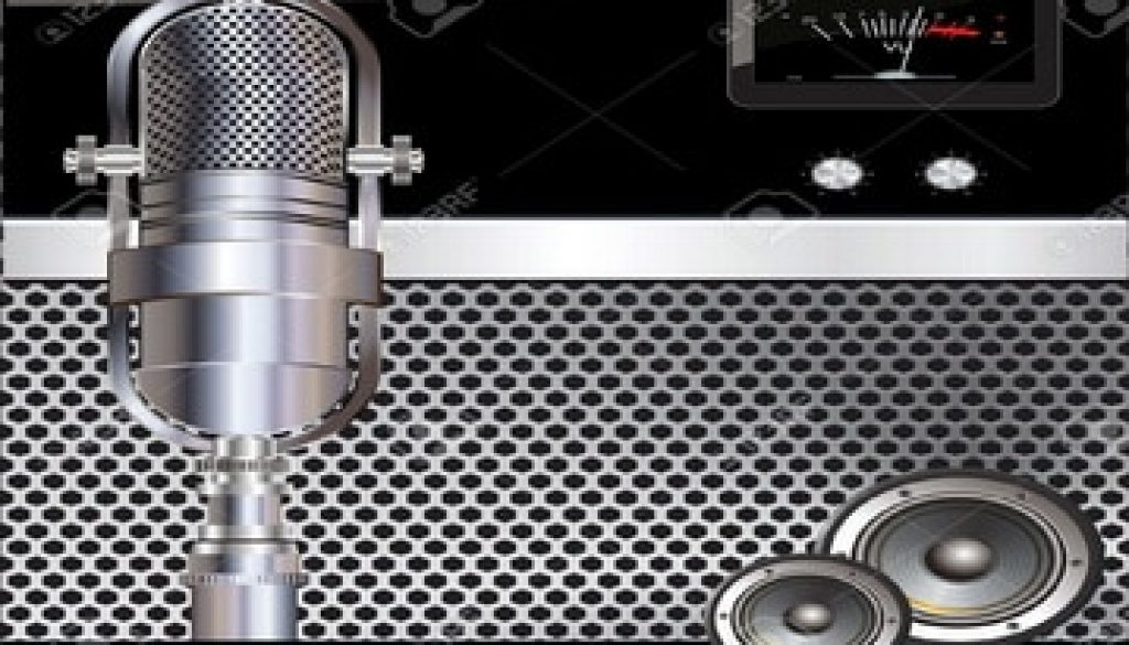 19156264-music-background-with-old-microphone-radio-microphone-station